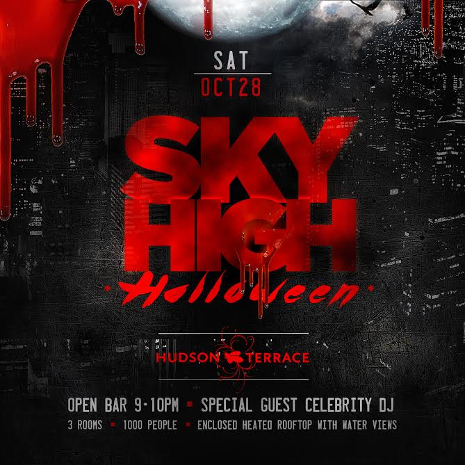 Rooftop Halloween Party Pass Tickets Sky Room New