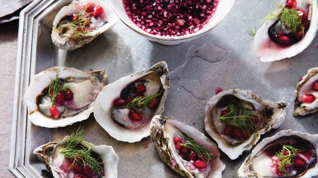 Oysters With Champagne-Pomegranate Mignonette.jpg