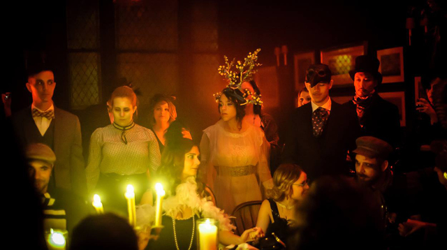 guests at the seance at VICTORIAN SEANCE (charlotte lily gaspard with flower headpiece) by JK.jpg
