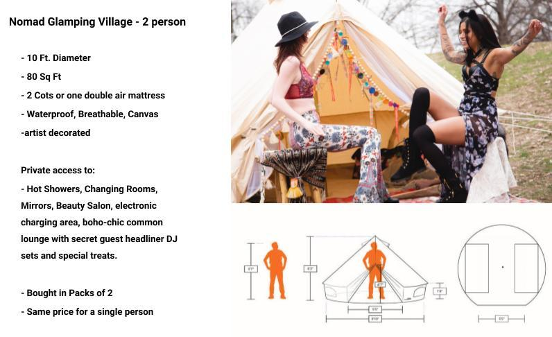 Nomad Glamping Village - 2 person - Tier 1