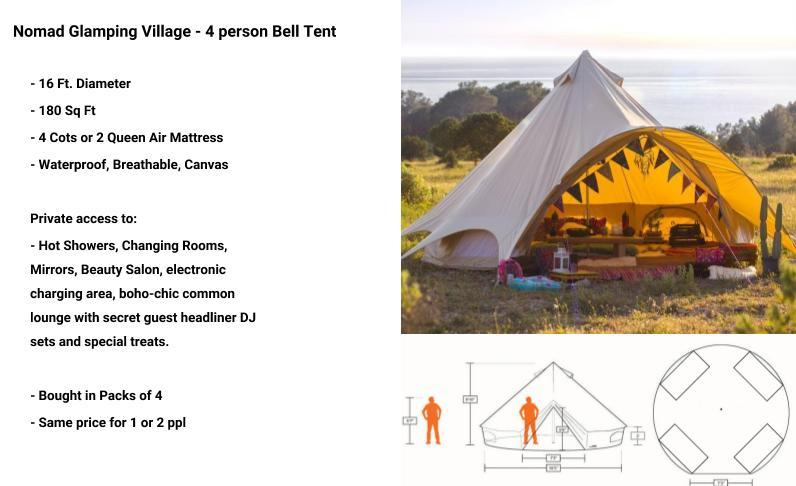 Nomad Glamping Village - 4 Person - Tier 1