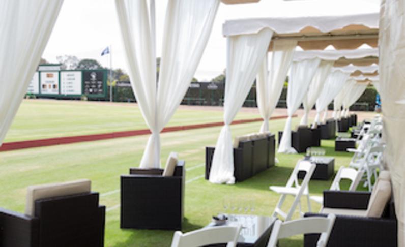 Luxury Fieldside Cabana (seats 10)