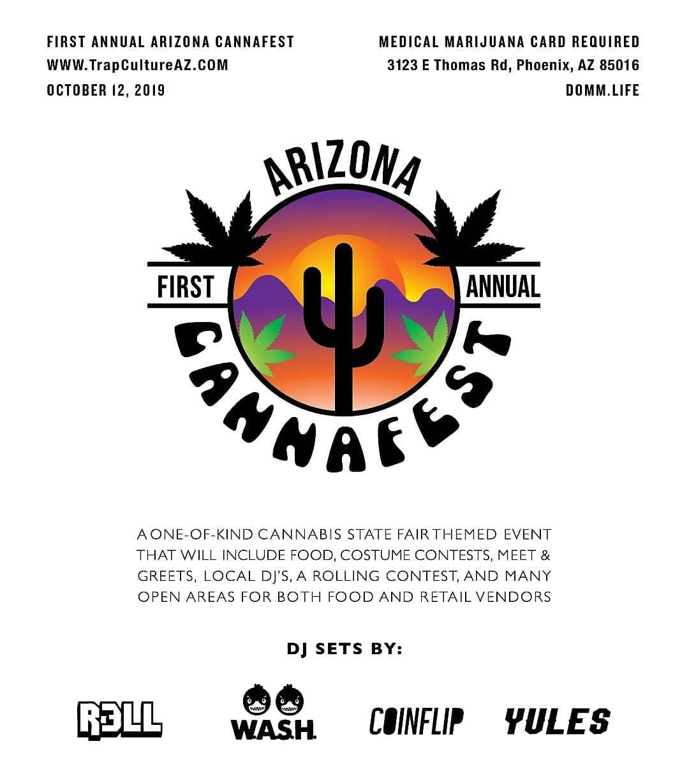 1st Annual Arizona Cannafest 10/12/19 - Tickets - DOMM life