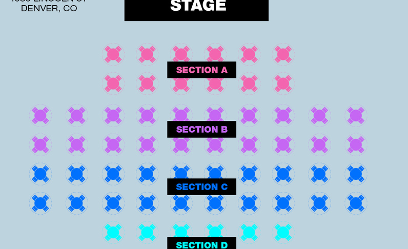 SECTION D - 9:00PM SHOW - Table for 4x