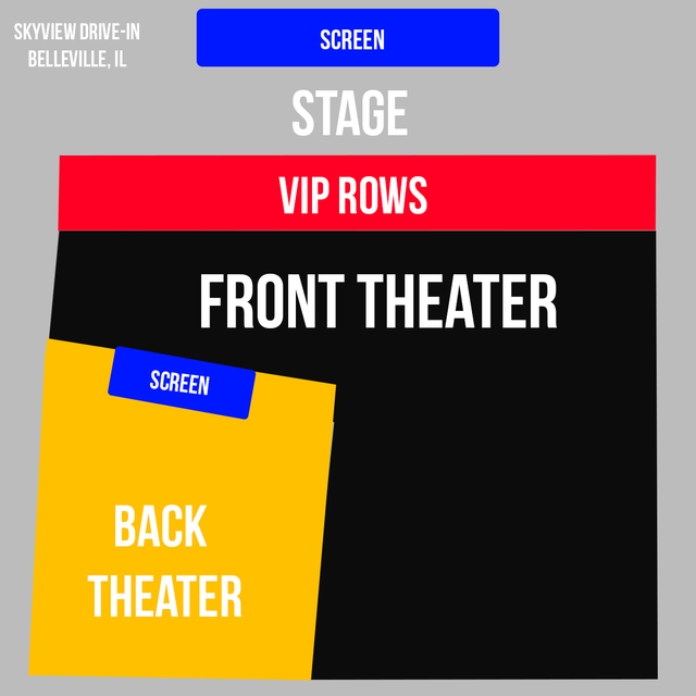 BACK THEATER - 7:30pm Show - GROUP TICKET - (4x) Total Attendees Per Car ($37/pp)