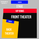 FRONT 4X ROWS VIP - 10:30PM SHOW - (4x) Total Attendees Per Car ($56 pp)
