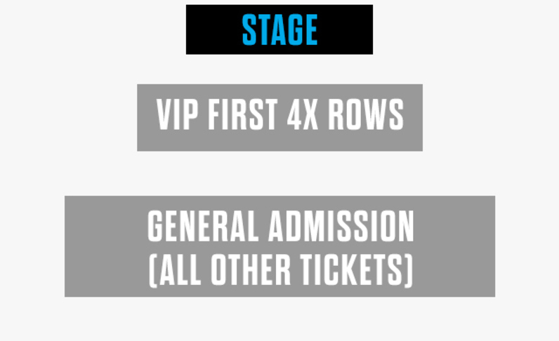 FRONT 4X ROWS VIP - 10:30pm Show - (5x) Total Attendees Per Car ($45 pp)