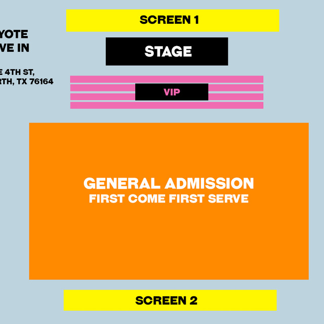 8:00PM SHOW - FRONT 4X ROWS VIP - (5x) Total Attendees Per Car ($60 pp)