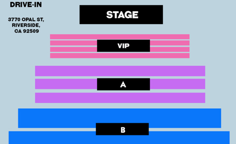 8:30PM SHOW - FRONT 6X ROWS VIP - (4x) Total Attendees Per Car ($75 pp)