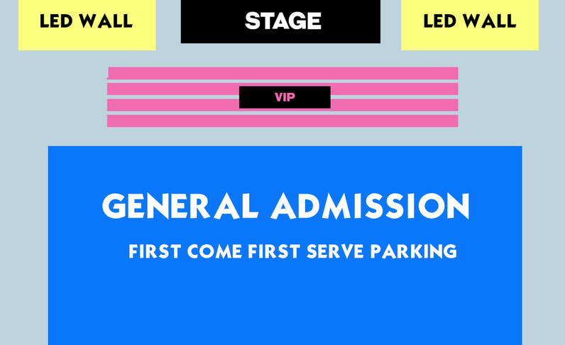 3:30PM SHOW - FRONT 6X ROWS VIP - (4x) Total Attendees Per Car ($75/pp)
