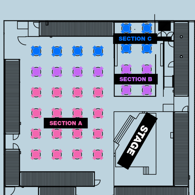 SECTION C - 8:30PM SHOW - Table for 4x