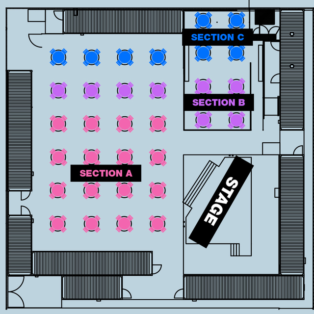 SECTION C - 6:00PM SHOW - Table for 4x