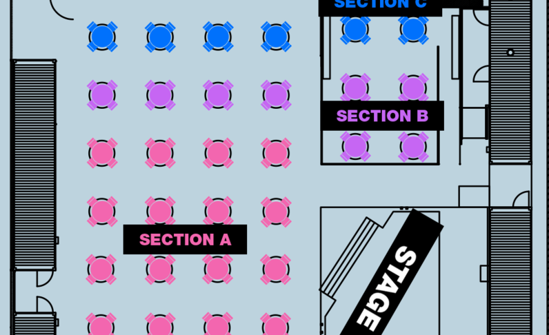 SECTION C - 8:00PM SHOW - Table for 4x