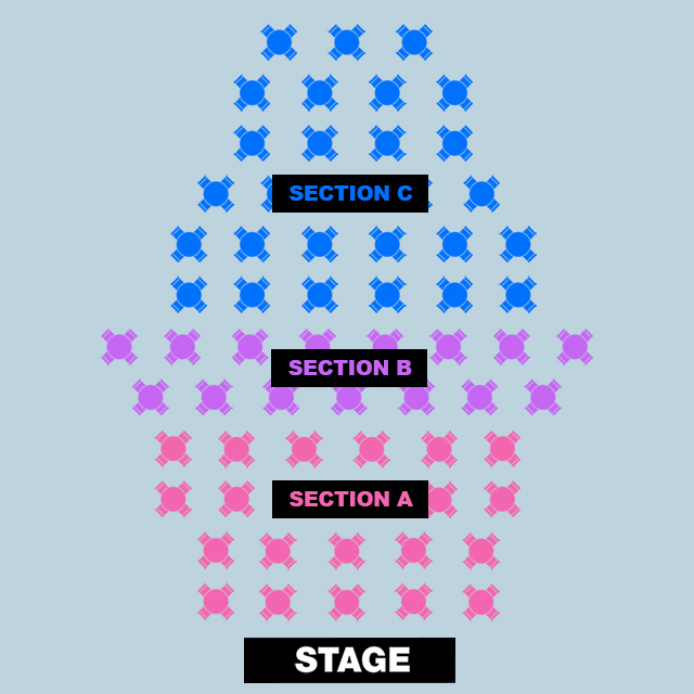 SECTION A - 9:00PM SHOW - Table for 4x
