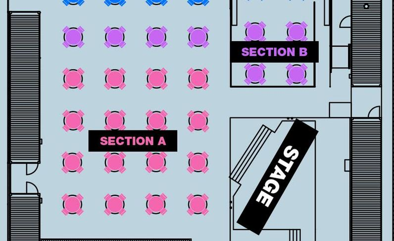 SECTION B - 8:30PM SHOW - Table for 2-4x
