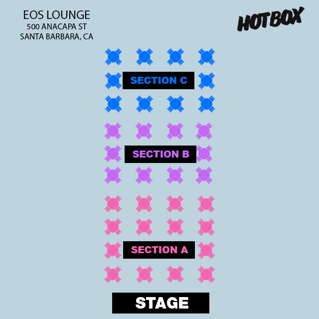 SECTION B - 8:30PM SHOW - Table for 4x