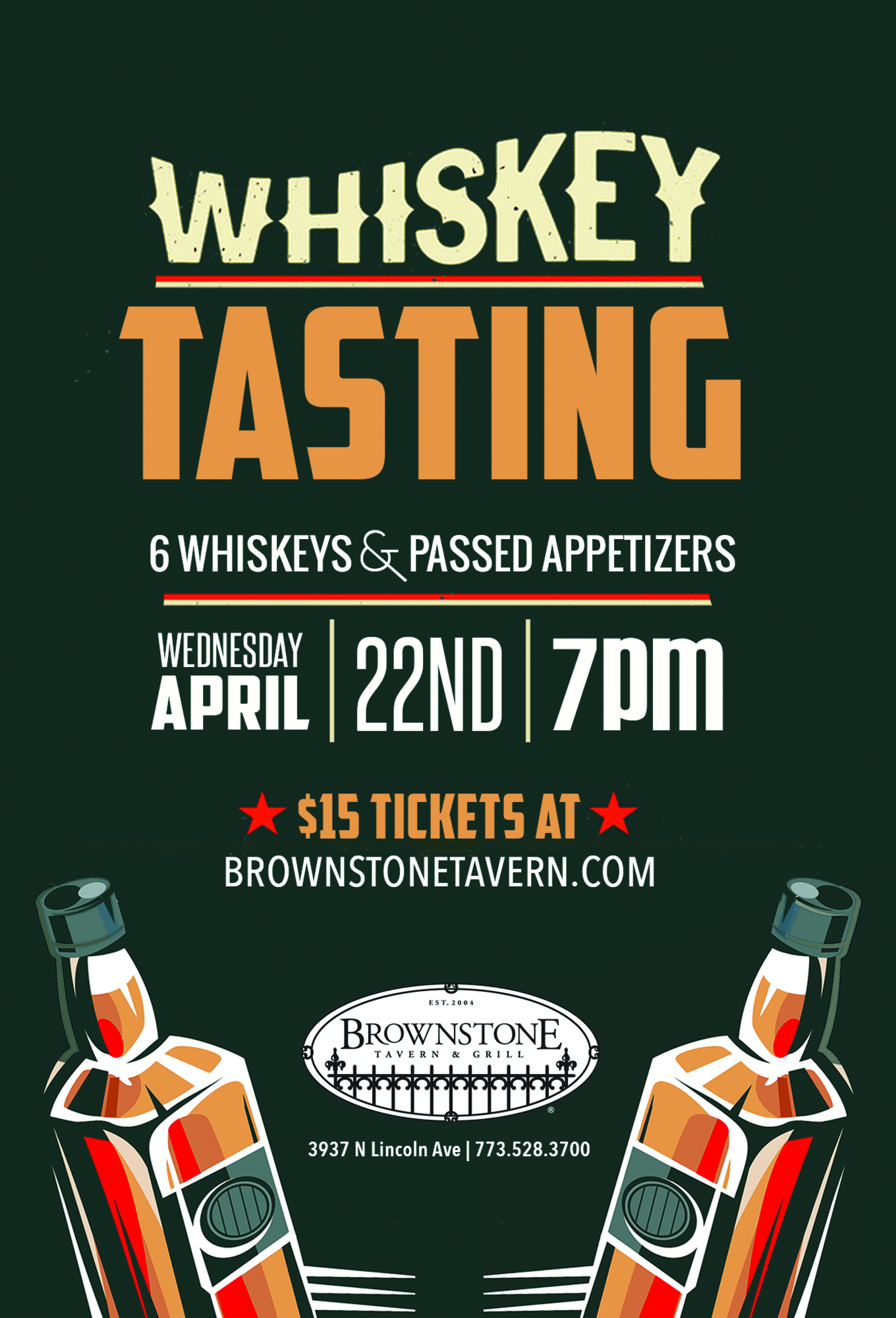 Whiskey Tasting at Brownstone Tickets Brownstone Chicago IL