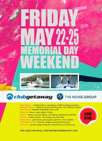 Memorial Day Weekend at Club Getaway