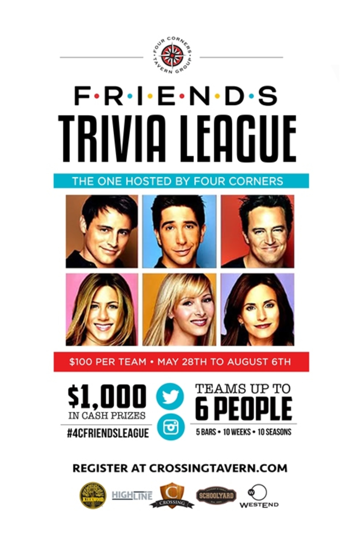 Friends Trivia League - Tickets - May 28, 2015