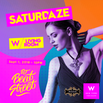 Saturdaze at W Time Square - Living Room