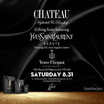 Labor Day Weekend Saturday with YSL and Veuve Clicquot