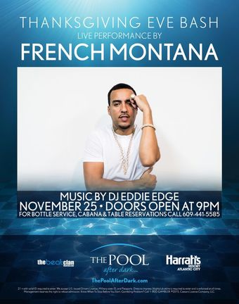 Thanksgiving Eve at The Pool After Dark with French Montana