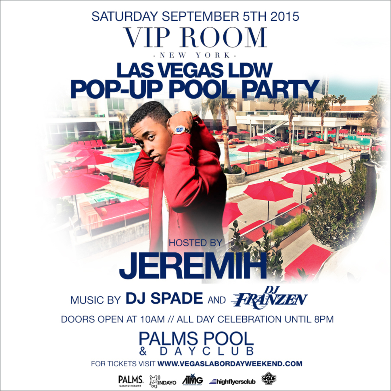 Las Vegas Labor Day Weekend At The Palms Pool With Jeremih Tickets