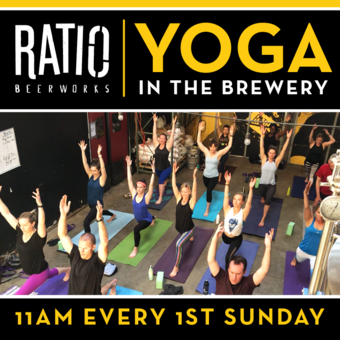 Yoga in the Brewery at Ratio Beerworks