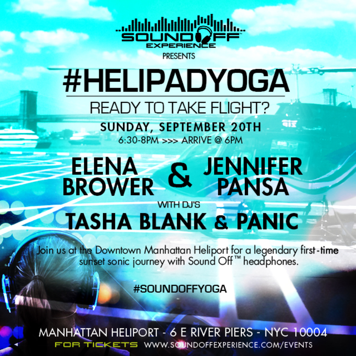 Sound Off Helipad Yoga Tickets Downtown Manhattan Heliport New York Ny September 20 2015