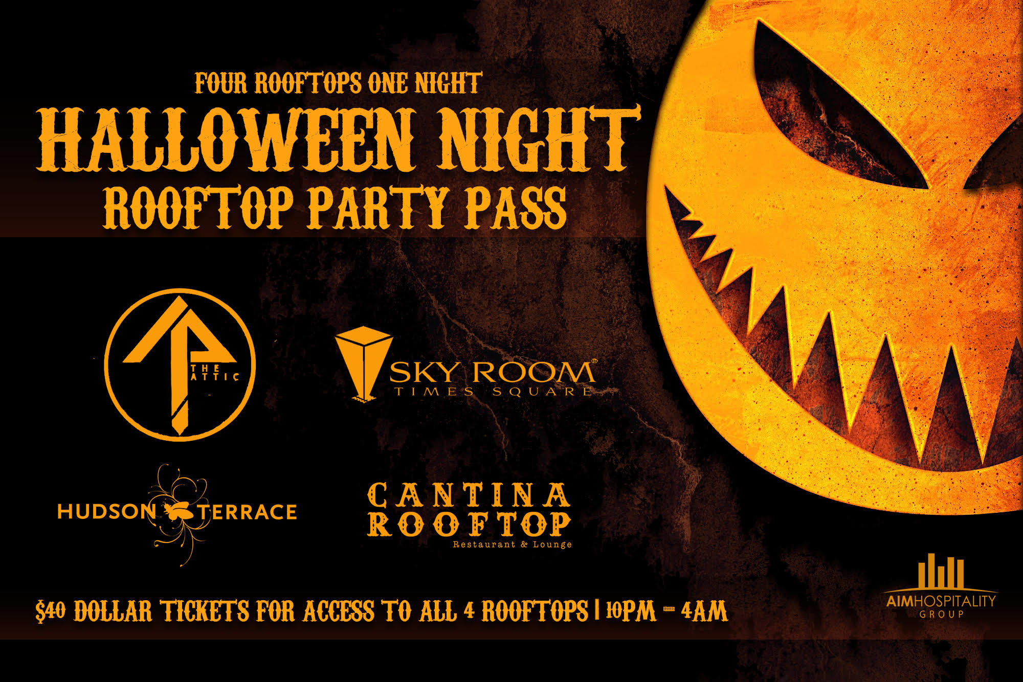 Halloween in NYC - Rooftop Party Pass! (Mid-Town) - Tickets ...