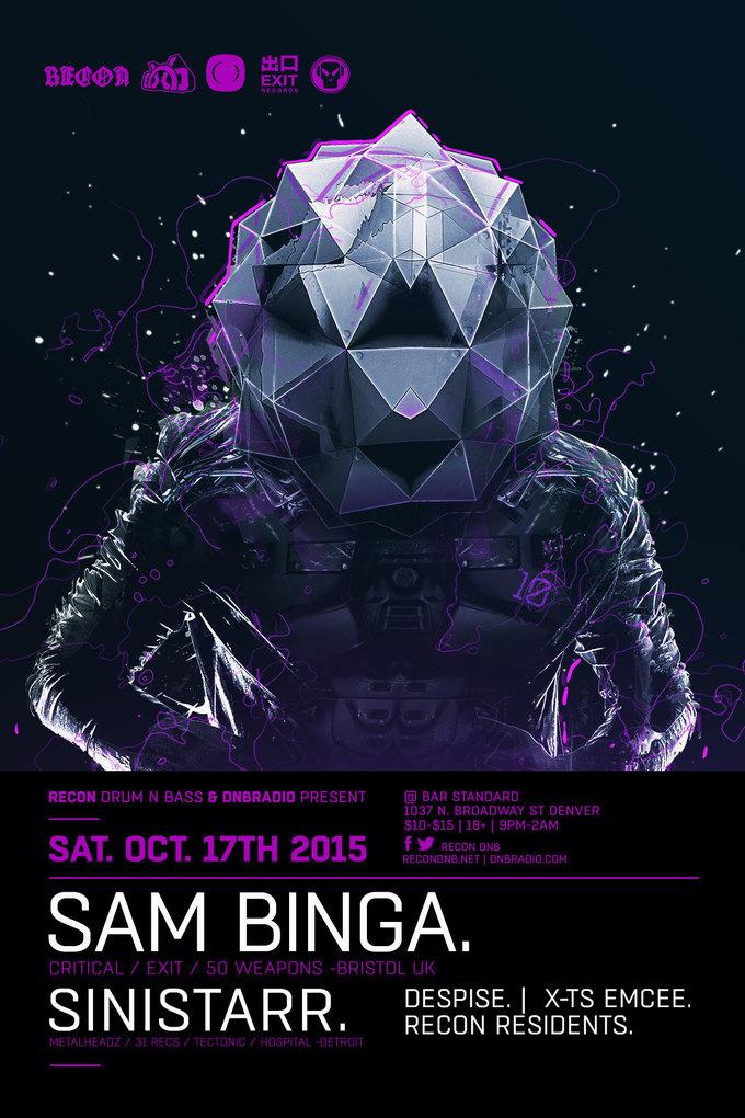 Recon DNB presents SAM BINGA + SINISTARR