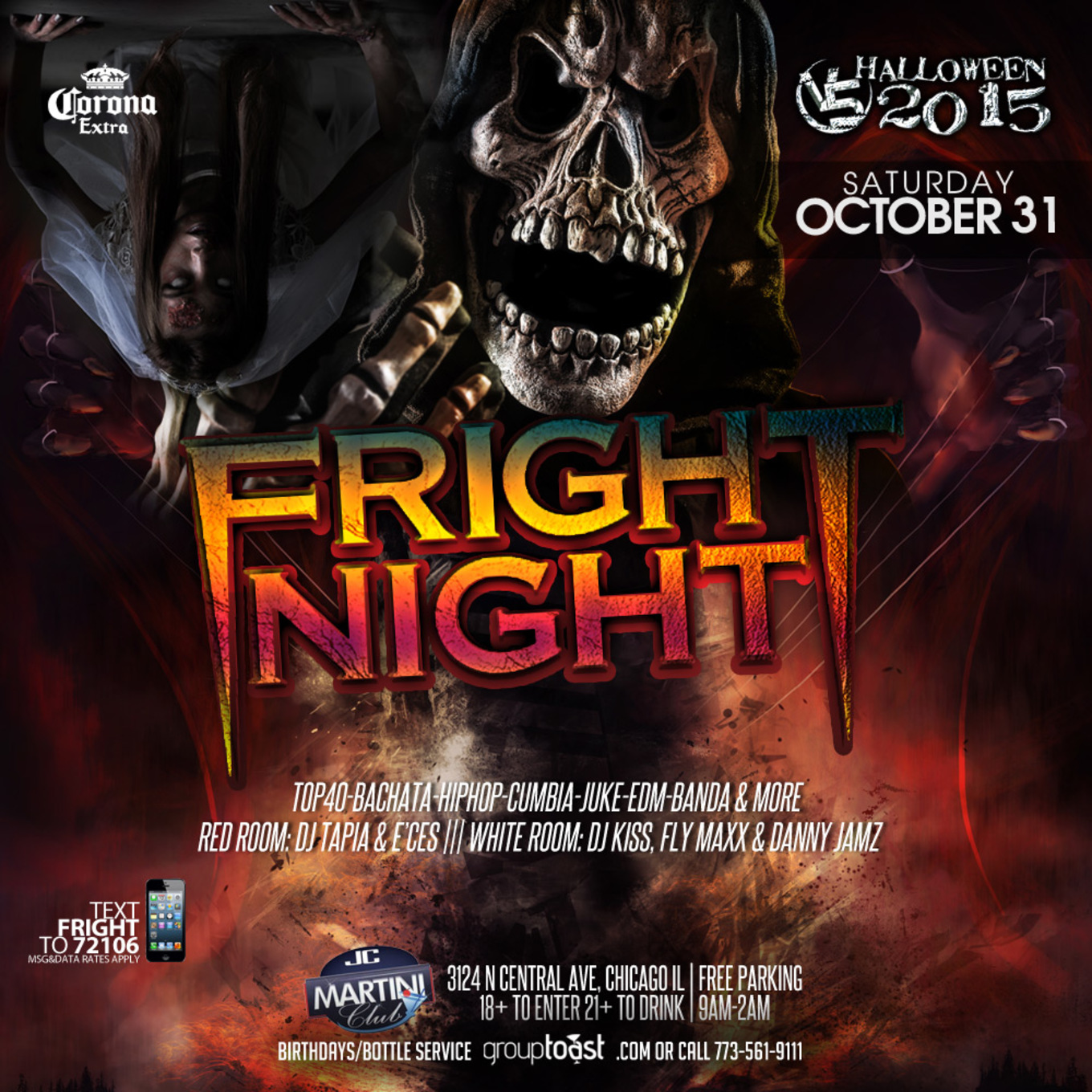 FRIGHT NIGHT at Martini Club - Tickets - Martini Club