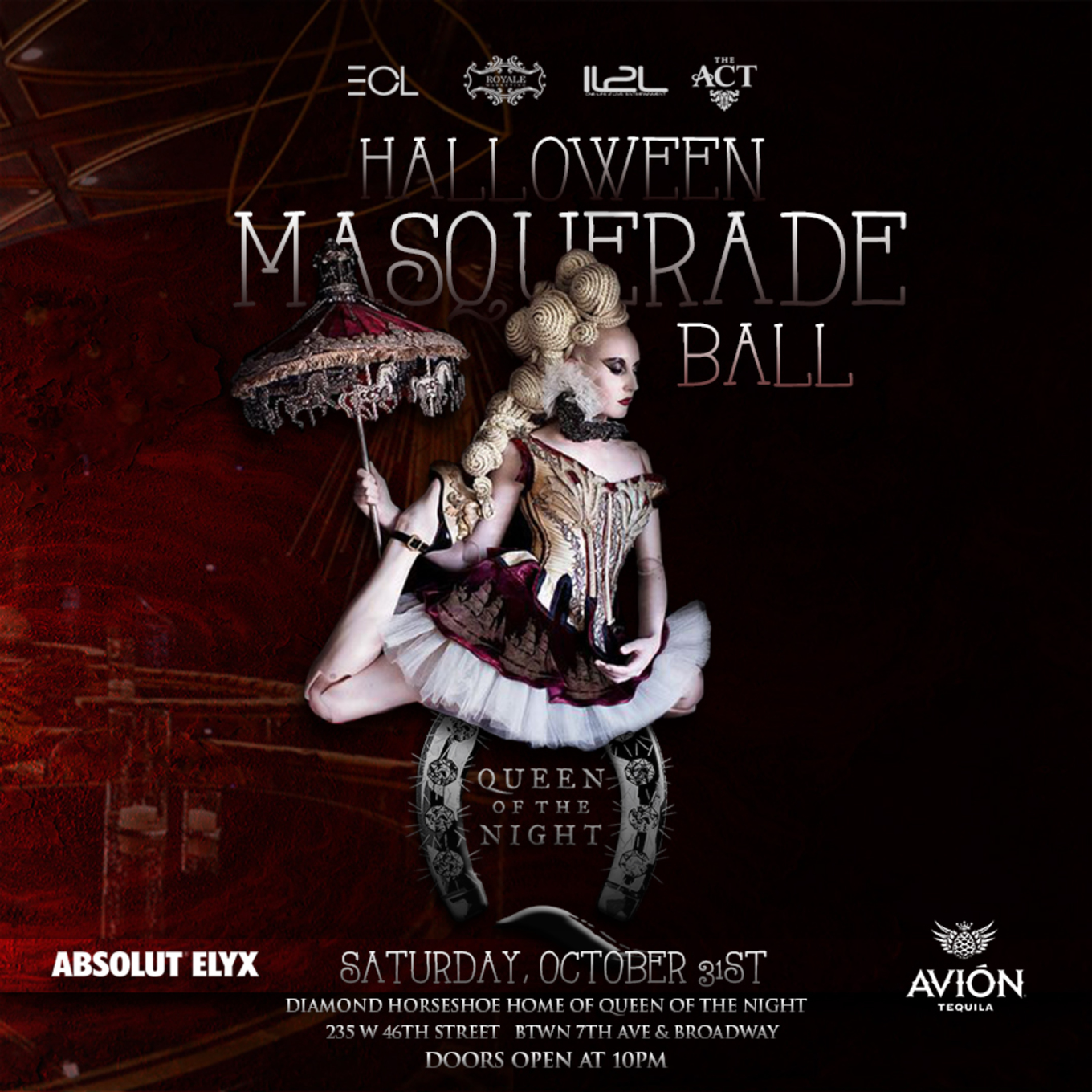 d915b0262cca Queen of the Night: A Halloween Masquerade Ball - Tickets - Diamond  Horseshoe, Home of Queen of the Night, New York, NY - October 31, 2015