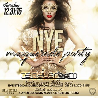New Year's Eve Masquerade @ candleroom 2016