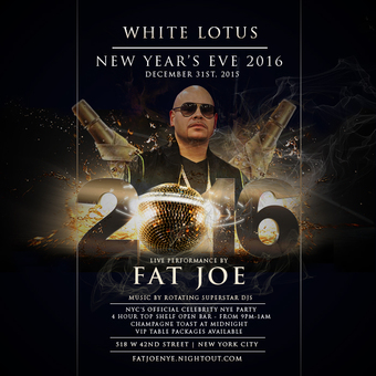 New Years Eve 2016 at WHITE LOTUS - LIVE Performance by FAT JOE
