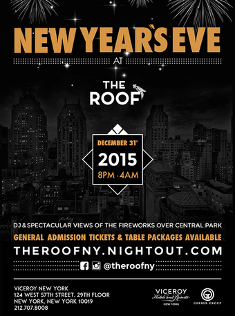 New Year's Eve Firework Show at The Roof