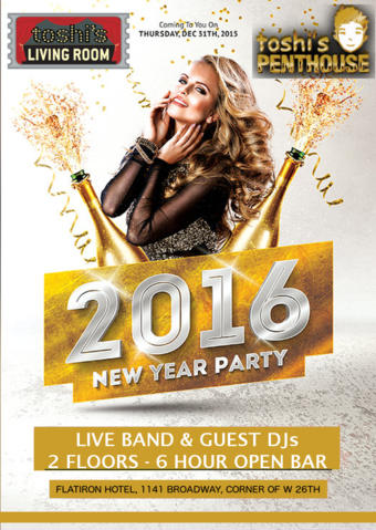 New Years Eve at TOSHI'S LIVING ROOM