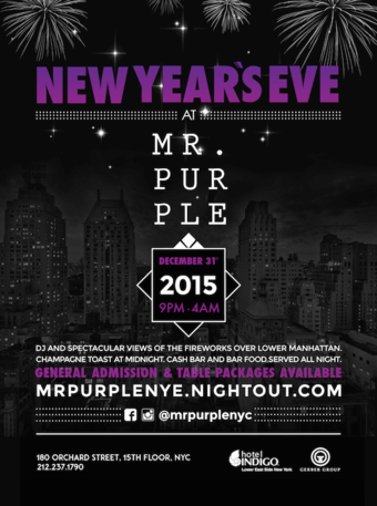 New Year's Eve at Mr. Purple