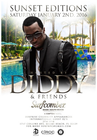SUNSET EDITIONS South Beach Party hosted by PUFF DADDY