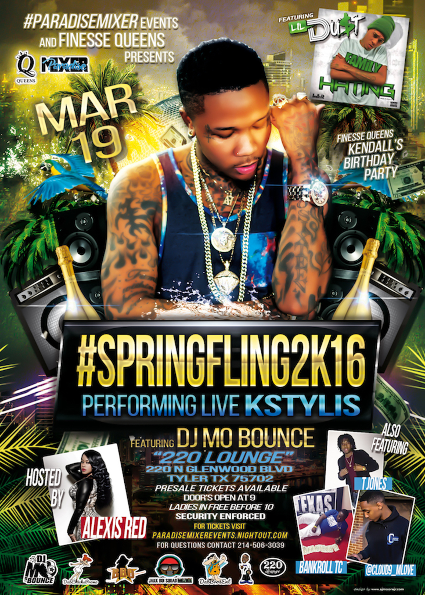 Spring Fling At 220 Lounge Performance By K Stylis Tickets 220 Lounge Tyler Tx March 19 2016
