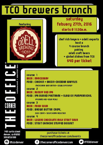 The Corner Office Brewer's Brunch with Odell Brewing