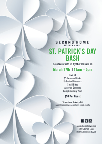 Second Home St. Patrick's Day Bash!