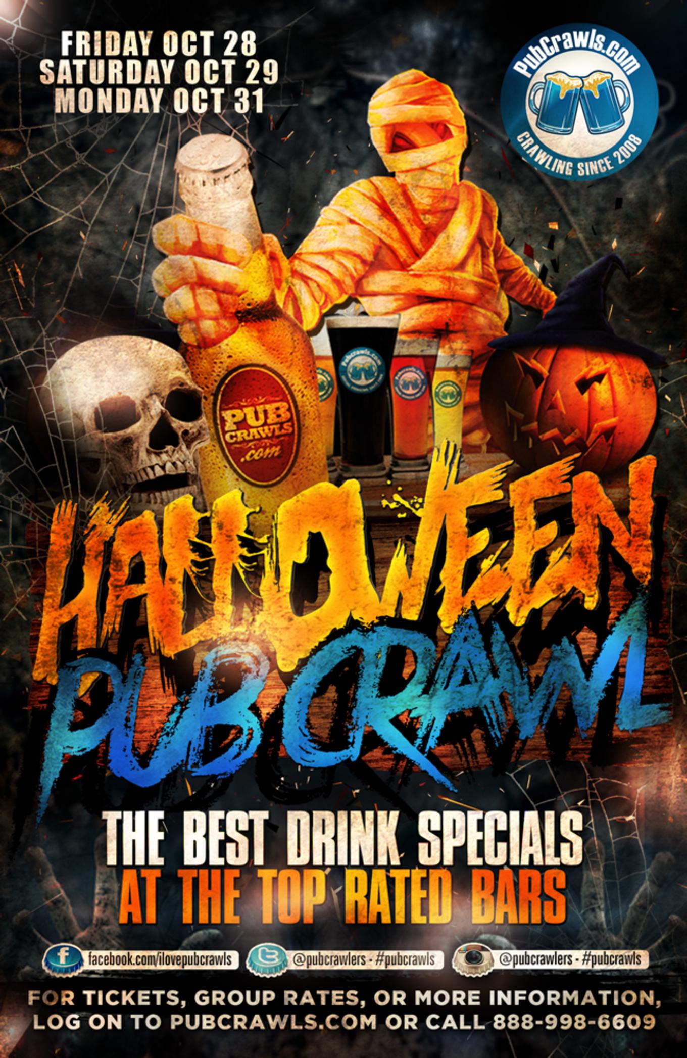 Halloween Pub Crawl Albany 2016 - Tickets - City Beer Hall, Albany ...