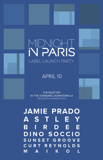 MIDNIGHT IN PARIS Label Launch Party on The Rooftop at The Standard Hotel, DTLA 4/10