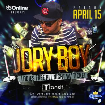 Jory Boy - Chicago - Transit Nightclub (21+)