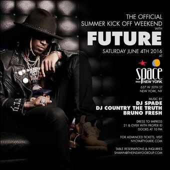 The Official Summer Kick Off Weekend with Future at Space Ibiza NY!