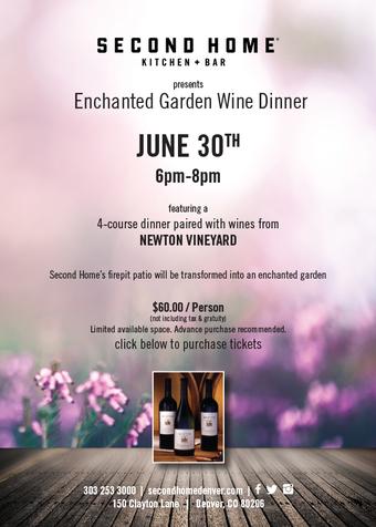 Enchanted Garden Wine Dinner