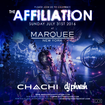 The Affiliation at Marquee New York!