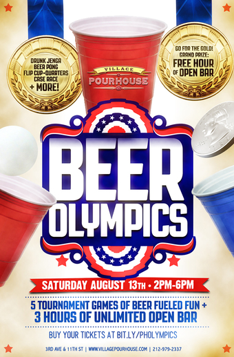 Beer Olympics at Village Pourhouse