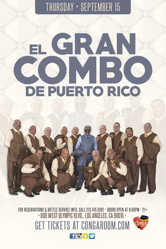 Conga Room presents El Gran Combo de Puerto Rico
